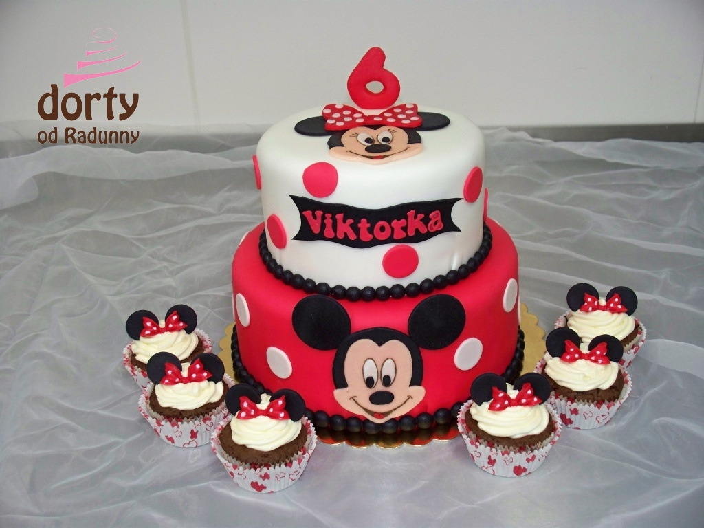 Micky Mouse+cupcakes